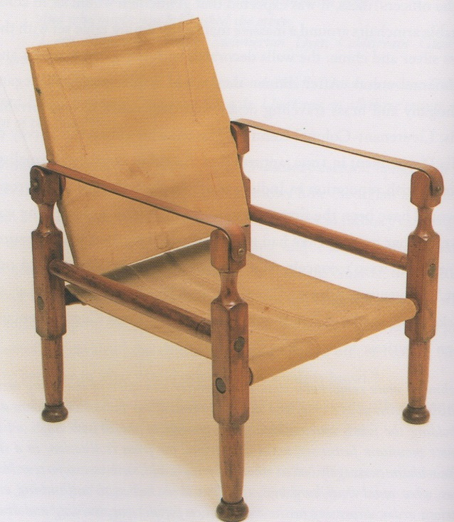 Roorkhee Chair Fitted With Canvas Seat And Back. From British Campaign  Furniture ...