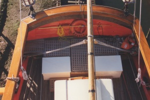 View of the stern from the main top. photo - R.D. Wilkins