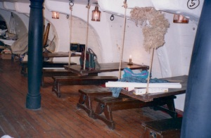 The crew mess area. photo - R.D. Wilkins