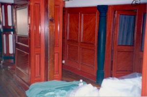 hand-grained partitions below deck. photo-R.D. Wilkins