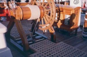 The great wheel and binnacle. photo - R.D. Wilkins