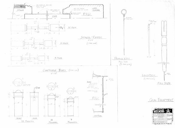 drawing of gun equipment