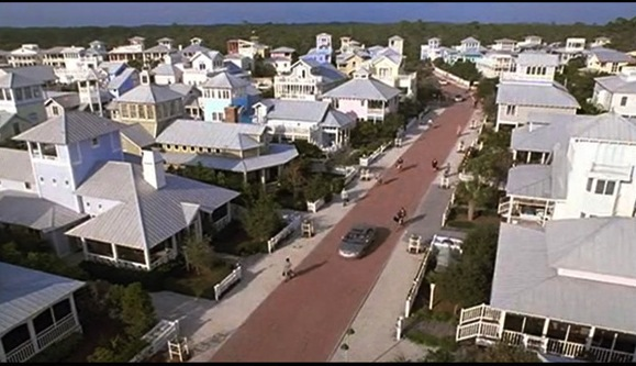 The Seaside Community in Seagrove Beach, Florida which served as the main setting for the film The Truman Show.