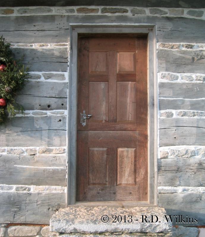 front door of the Daniel Trabue cabin