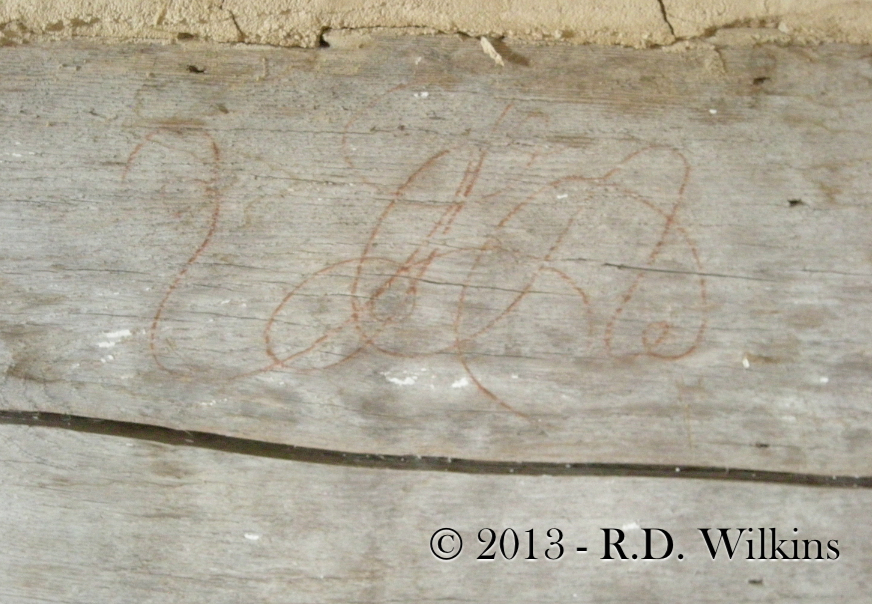 18th century cipher of the cabin's builder