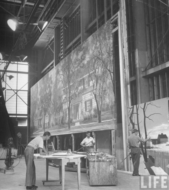 Still from a Life Magazine article of the same space when it was the MGM scenic shop in the 1950's.