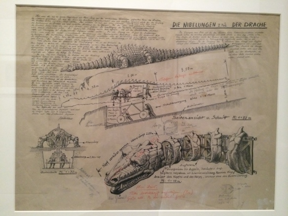 Technical drawing of the Dragon by Erich Kettelhut