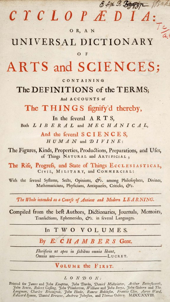 1728 Cyclopaedia frontispiece