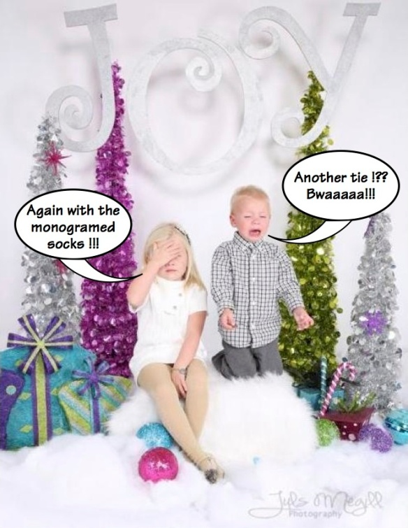 Beware. This is what happens when you give a set designer a crappy holiday gift. source: Awkwardfamilyphotos.com