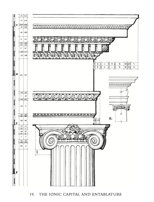 Ionic Capital and Entablature